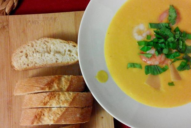 Сливочный суп-пюре из тыквы с имбирем