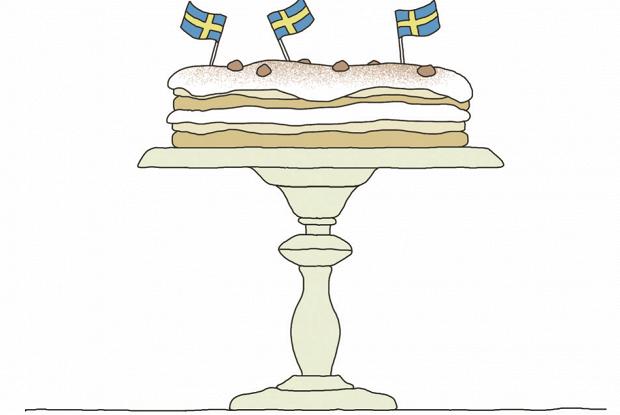 Торт с фундуком и меренгой (marängtårta med hasselnötter)