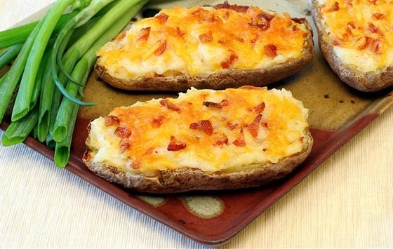 Печеный картофель с рокфором