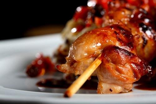 Курица на гриле по-гречески