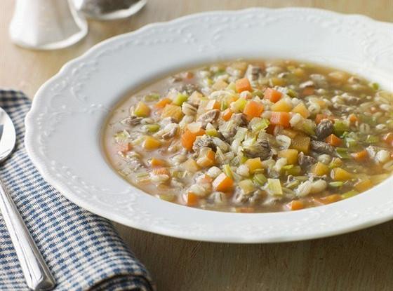 Суп с перловой крупой и репой