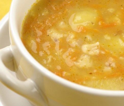 Суп из овсяной крупы с яблоками