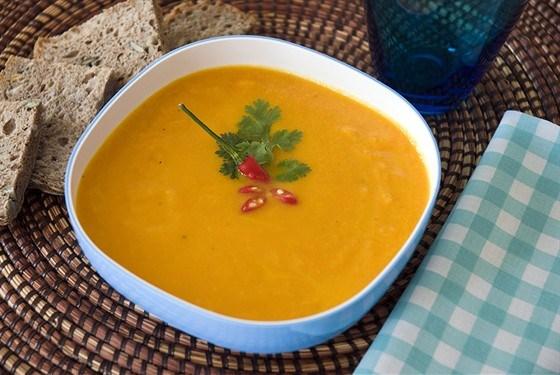Суп с морковью и тыквенными семечками