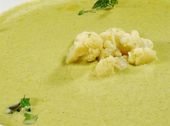 Холодный суп с цветной капустой