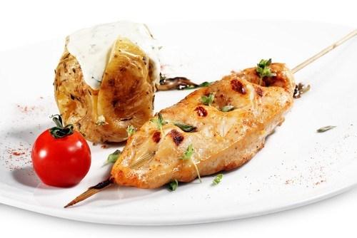 Курица на гриле в средиземноморском чесночном масле