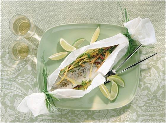 Рыба запеченная в газете