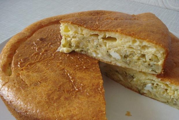 Быстрый пирог из теста на кефире