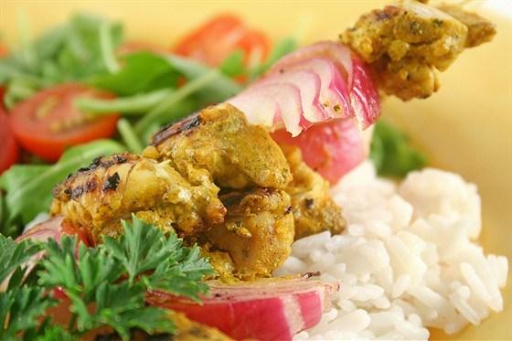 Курица тандури с рисом и кардамоном