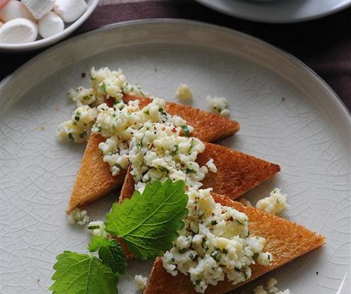 Омлет с сыром и мятой