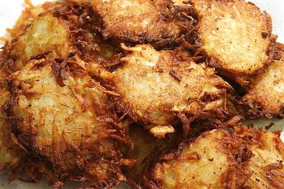 Латкес из картофеля и цукини