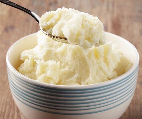 Картофельное пюре с трюфельным маслом и маскарпоне
