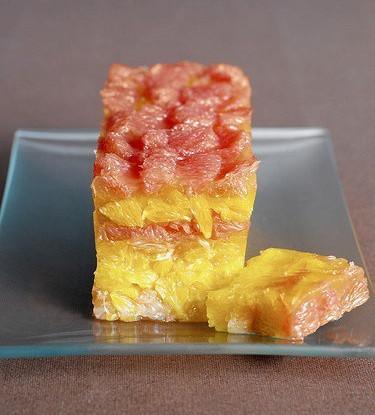 Цитрусовый террин с карамелизованной грейпфрутовой цедрой