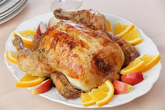 Цыпленок с апельсинами