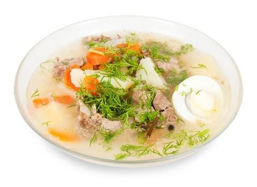 Суп «Чихиртма» из баранины с кинзой и яичным соусом