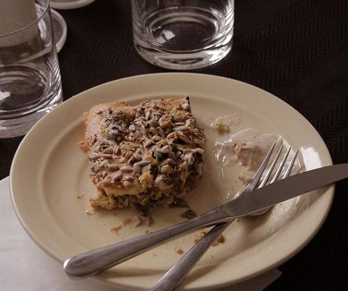 Быстрый куриный пирог со стручковой фасолью и рисовым тестом