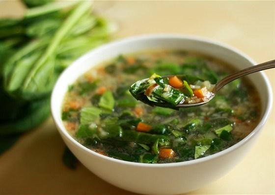 Зеленый суп с имбирем