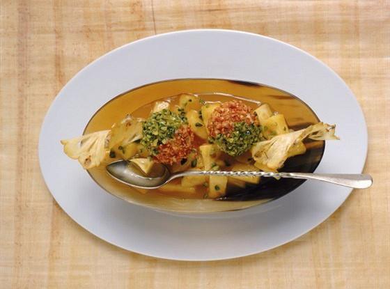 Фруктовый салат с апельсином и маракуйей