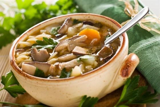 Суп из свежих маслят