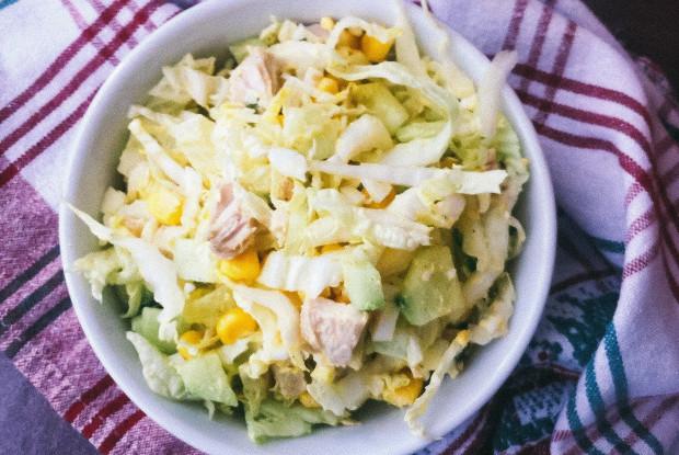 Салат из курицы и пекинской капусты «Семейный»