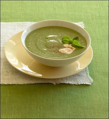 Крем-суп из цукини с греческим йогуртом и мятой