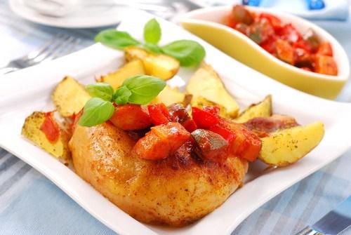 Курица с томатами по-кавказски