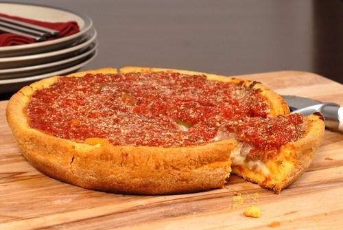 Фаршированная пицца по-чикагски