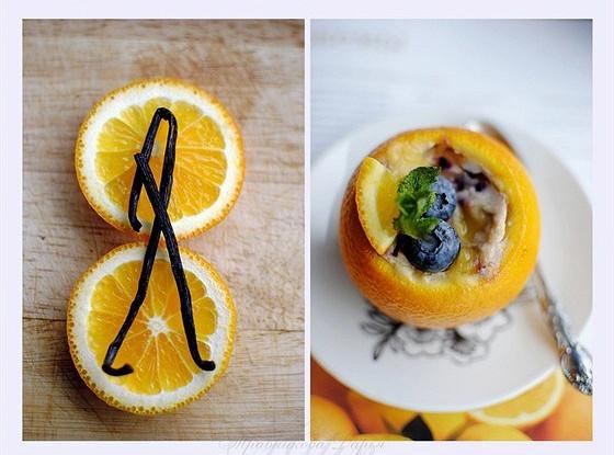Апельсиново-голубичное суфле
