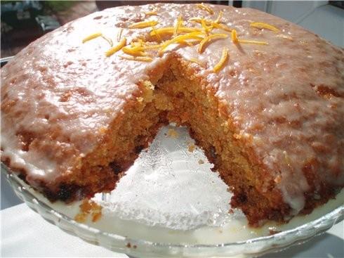 Морковный пирог с глазурью