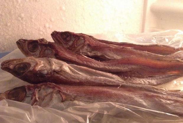 Вяленая рыба (путассу)
