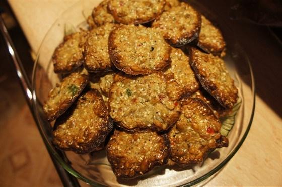 Печенье без муки с семечками и сухофруктами