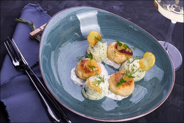 Котлеты из щуки с трюфельным пюре и картофелем