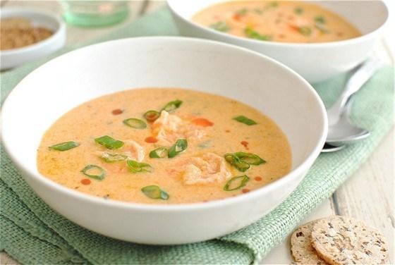 Суп с креветками и сельдереем