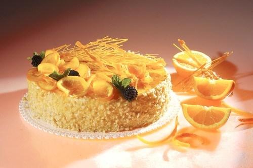 Торт с грецкими орехами и апельсинами