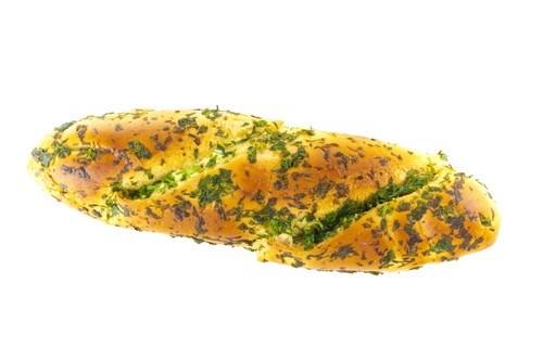 Постный хлеб с чесноком и петрушкой