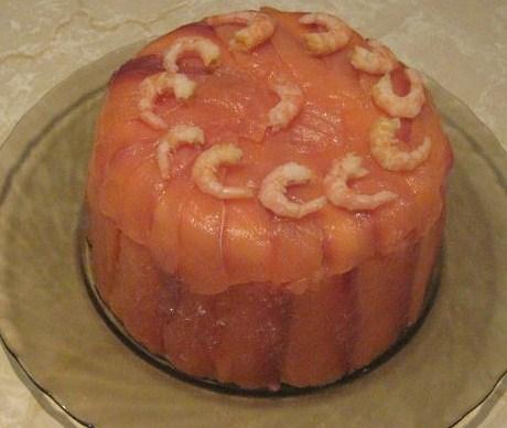Салат-торт из морепродуктов