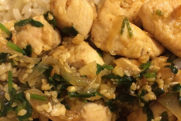 Курица с кунжутом по-азиатски