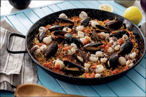 Испанская лапша «Минутка» с морепродуктами