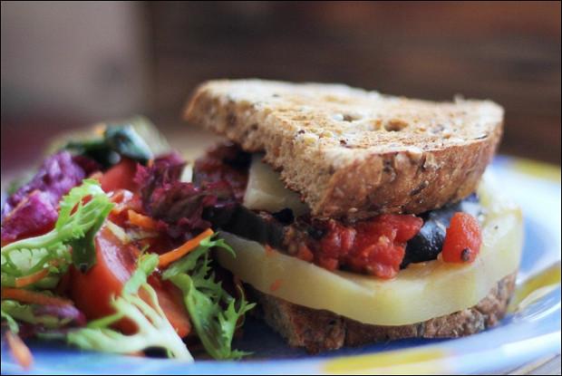 Сэндвичи с осенними овощами