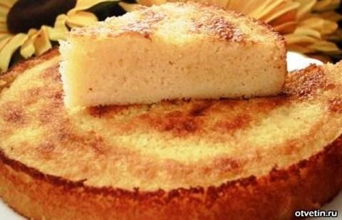Манный пирог на сметане