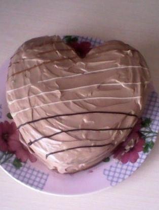 Быстрый торт со сливочно-шоколадным кремом