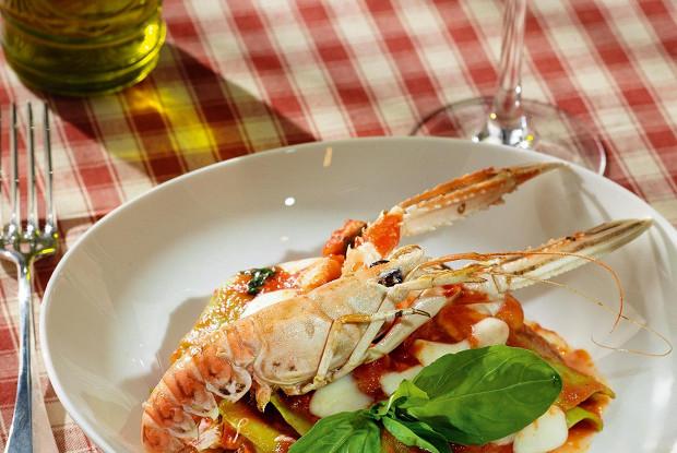 Лазанья Frutti di Mare со шпинатом