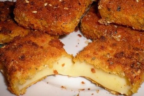 Жареный сыр в панцире