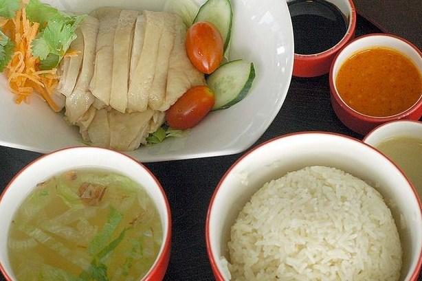 Курица с рисом по-хайнански