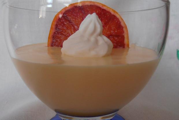 Фруктовый крем из апельсина