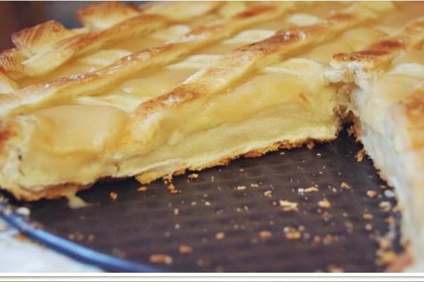 Быстрый слоеный пирог с фруктовым пюре
