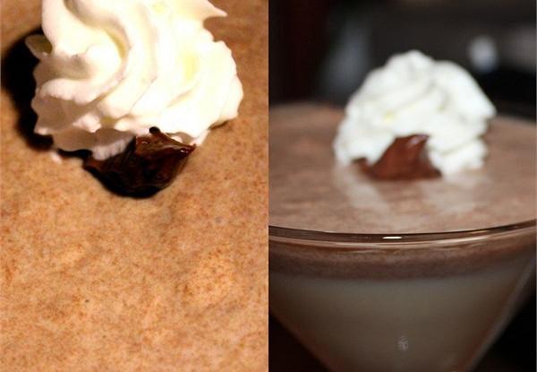 Сливочное суфле из двух шоколадов