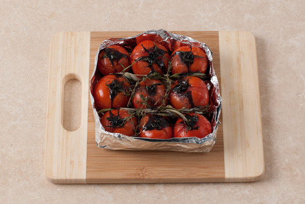 Бакинские томаты конфи с прошутто
