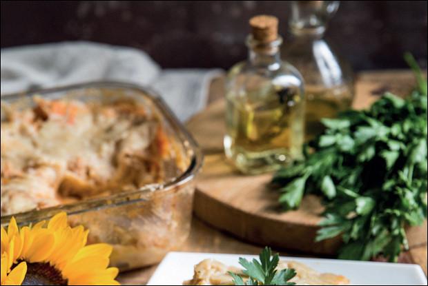Лазанья болоньезе с соевым мясом