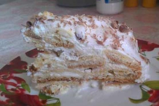Нежный заварной торт со сметанным кремом
