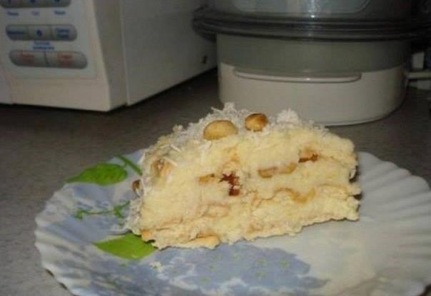 Торт из печенья с кокосовым кремом